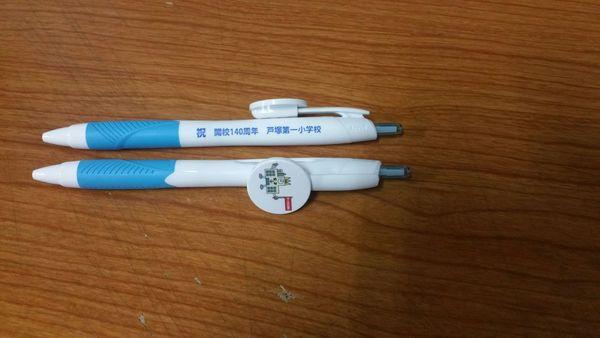 キャラクターを印刷したボールペンの紹介です。